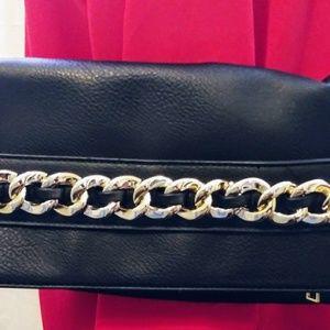 Black gold clutch purse